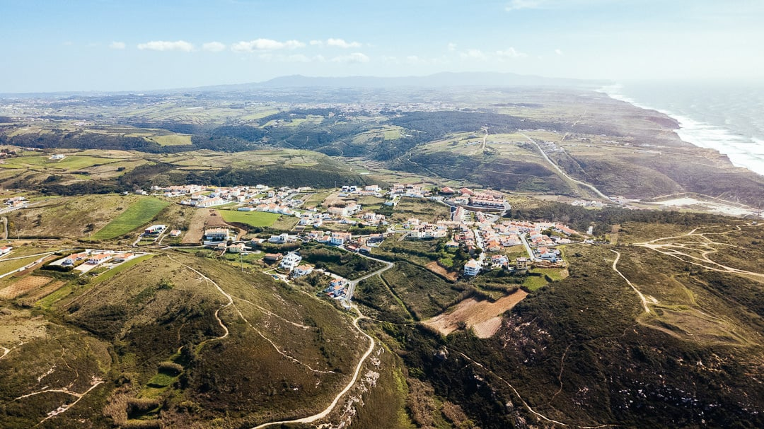Aerial view from ericeira country side